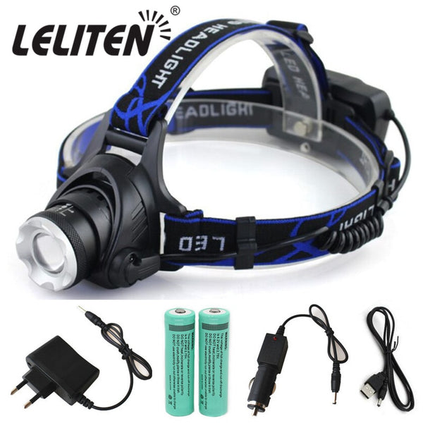 Portable zooming xml-t6 L2 V6 Led Headlamp waterproof ZOOM Fishing headlights Camping Hiking Flashlight With USB Cable