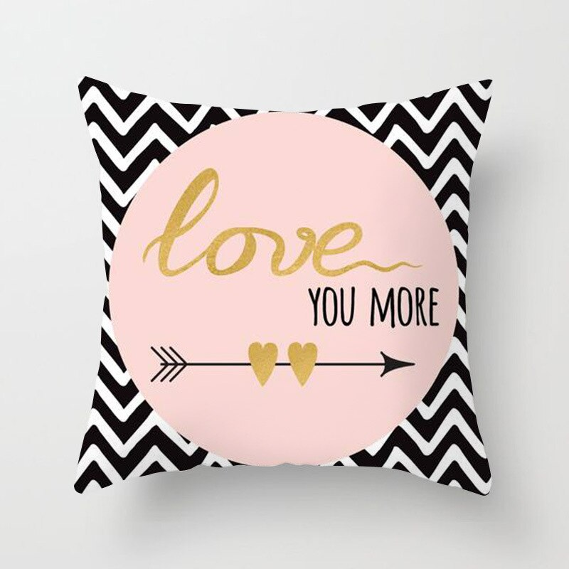 ZENGIA Lash Pillow Case Rose Gold Geometric Pineapple Glitter Polyester Sofa Decorative Cushion Cover for Home Decor 45x45cm