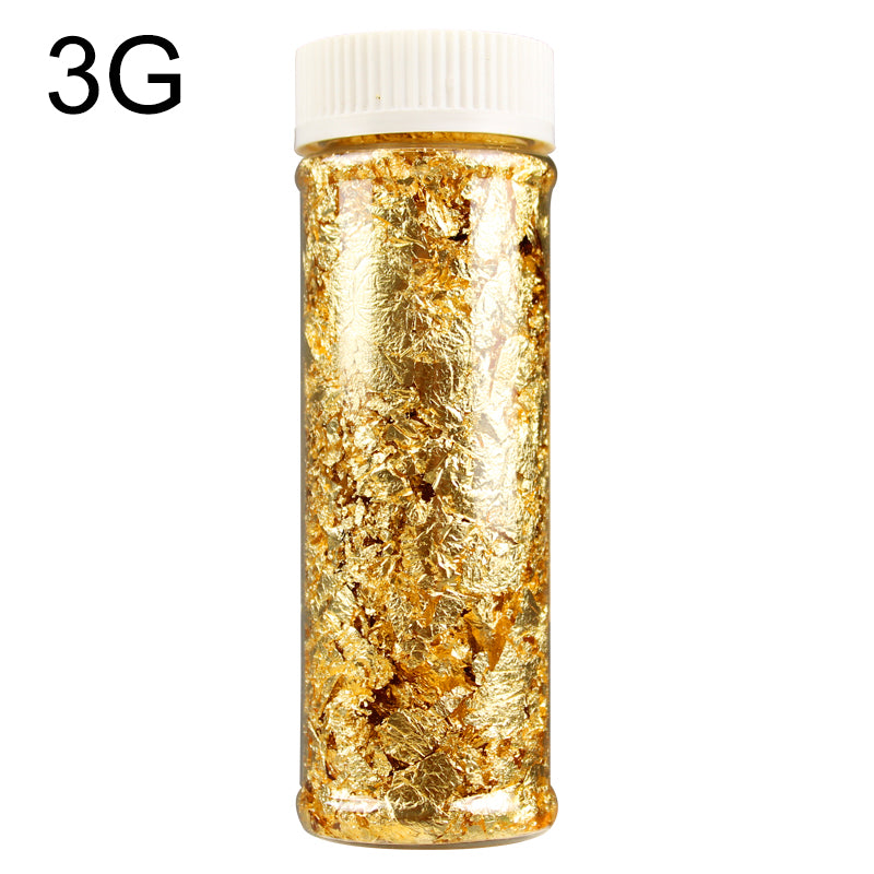 1PCS Edible Grade Genuine Gold Leaf Schabin Flakes 2g 3g 24K Gold Decorative Dishes Chef Art Cake Decorating Tools Chocolates