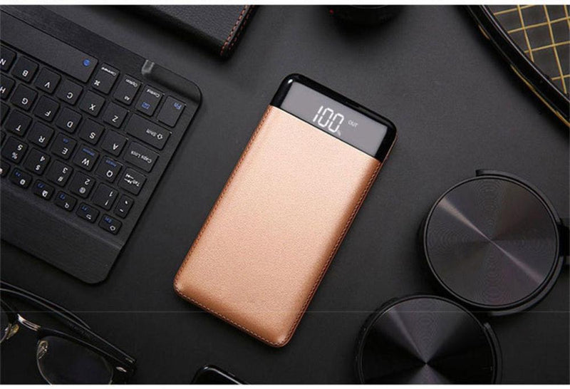 20000mAh Power Bank External Battery Power Bank 2 USB LCD Display Power Bank Portable Mobile Phone Charger for Xiaomi Mi iphone7
