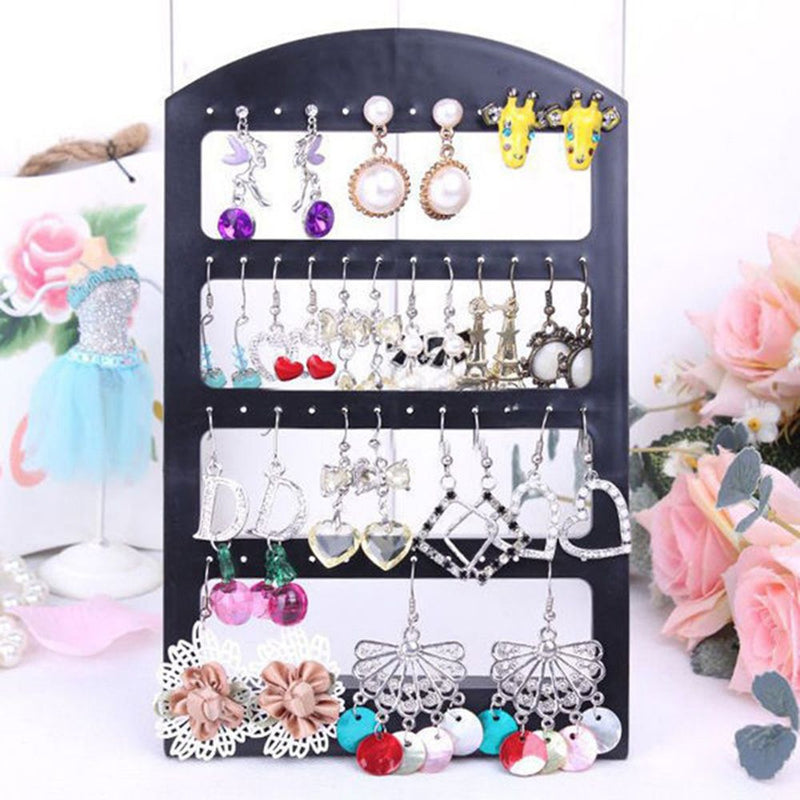 New 3 Size Fashion Earrings Ear Studs Jewelry Show Plastic Jewelry Display Rack Metal Stand Organizer Holder for necklaces
