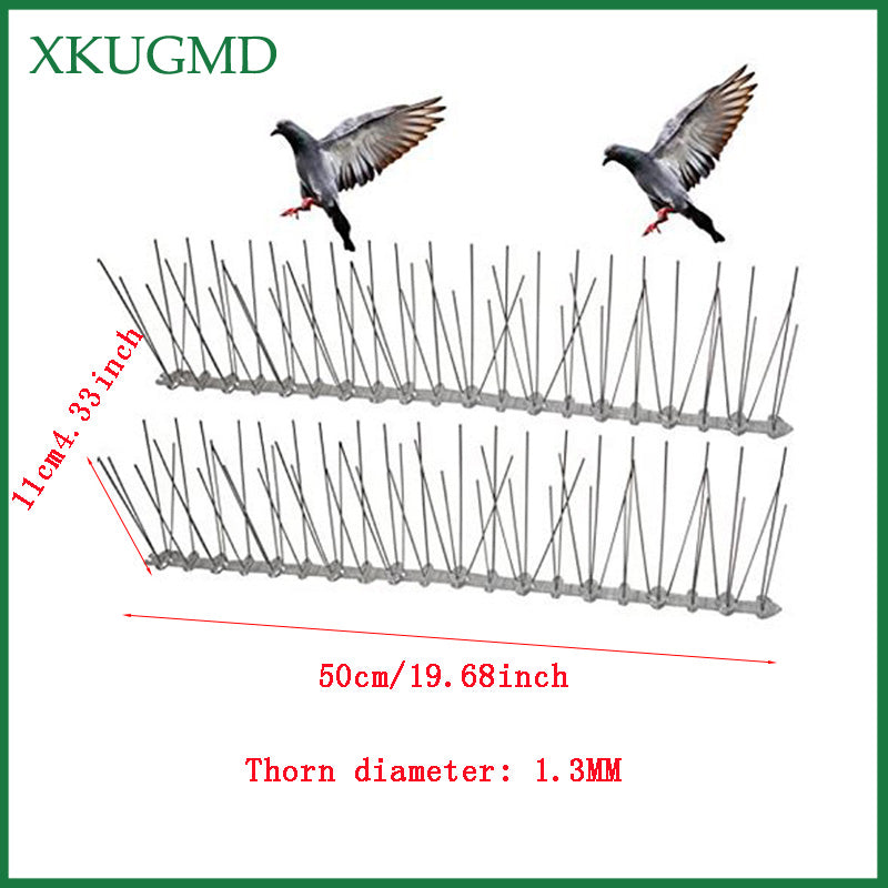Hot 20PCS 10M Orchard Stainless Steel Bird-proof Needle Outdoor Installation Bird Repeller Villa Installed Away From Bird Device