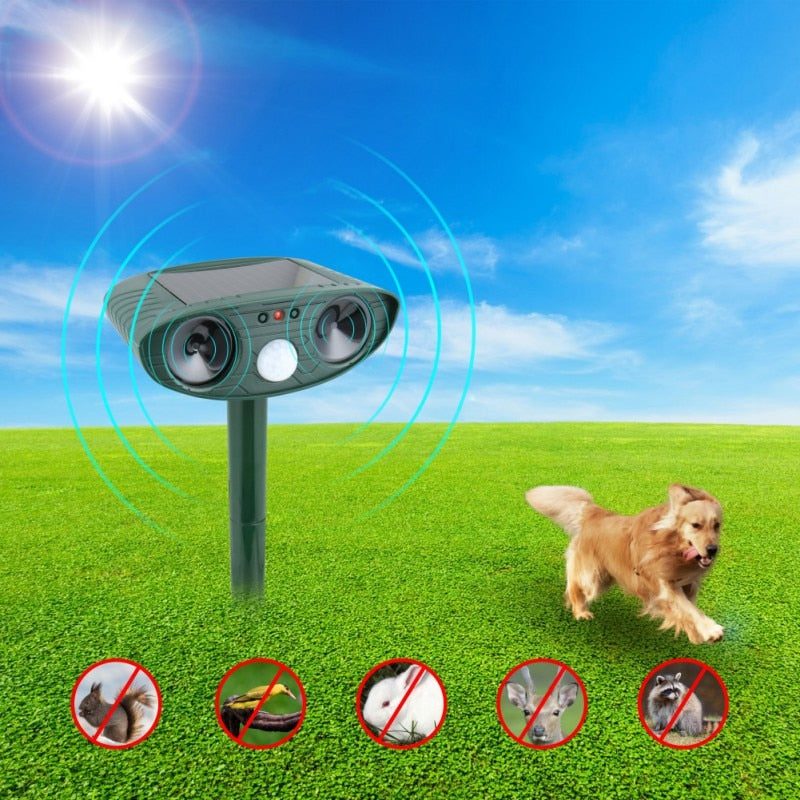 Ultrasonic Cat Repeller pest repeller Dog Fox Deterrent Chaser Repellent Eco-friendly Solar Powered Garden Pest Animal Repeller