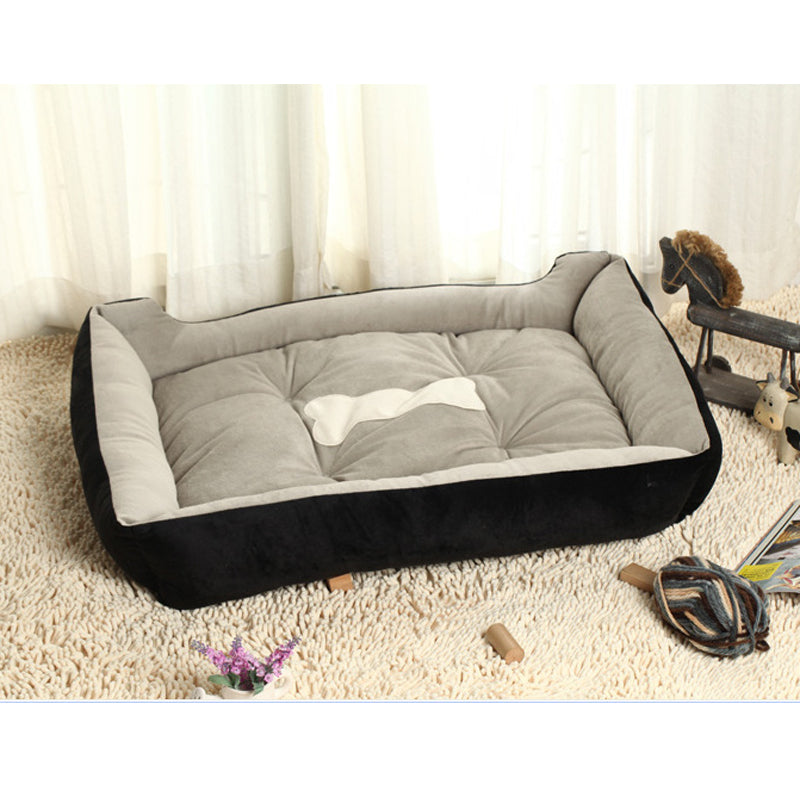 6 Size Soft Fleece Pet Dog Bed Cushion Bone Print Large Dog Beds For Labrador Golden retriever Soft Warm Dog Blanket Winter