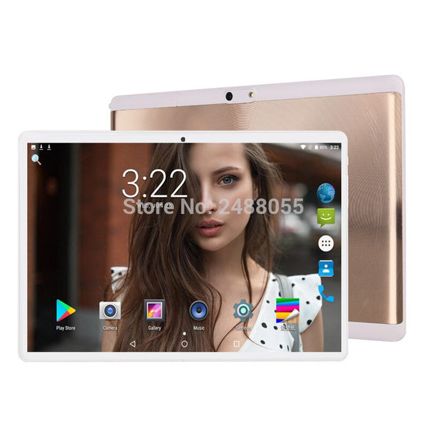 6GB + 128GB tablet 2.5D Glass 10 inch tablet Android 9.0 Octa Core 1280x800 HD IPS 3G 4G LTE GPS WIFI Pad 10 10.1 Gifts