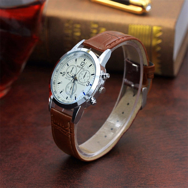 Dropship 1 Pc Fashion Men's Watch Belt Sport Quartz Hour Wrist Analog Watch #0822