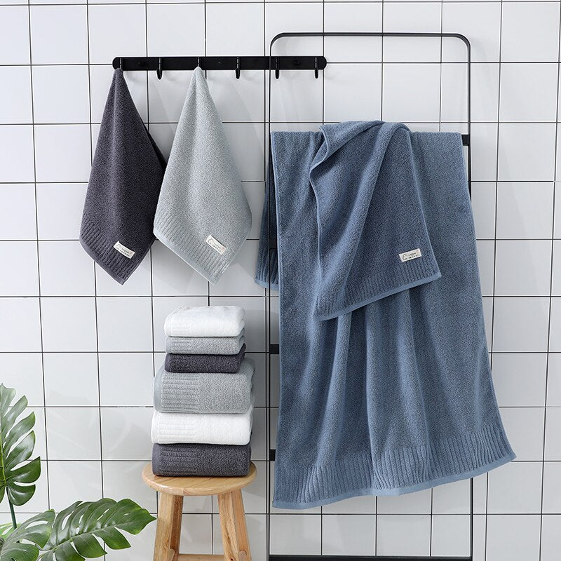 LREA 1pc FASHION Pure and fresh style face towel 100% cotton material Soft and comfortable Protect your skin 34x71cm