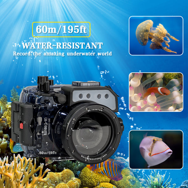 Waterproof Case for Sony RX100 V Camera Photography Underwater 60m Protective Housing Diving Equipment Camera Accessory Box