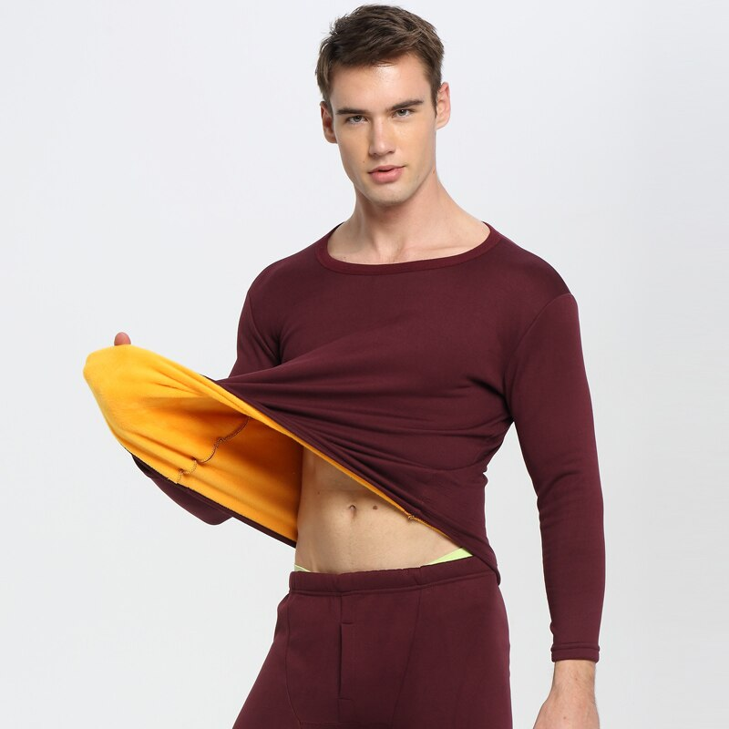 Thermal Underwear men Winter Women Long Johns sets fleece keep warm in cold weather size L to 6XL