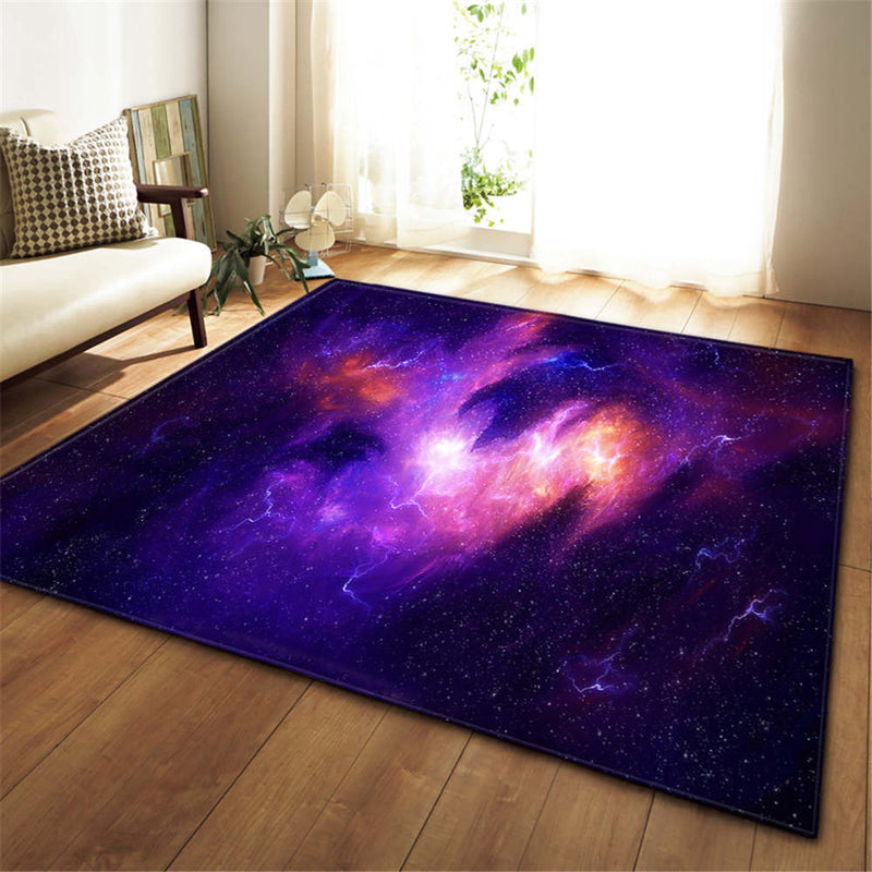 3D Galaxy Space Stars Carpets Living Room Decoration Bedroom Parlor Tea Table Area Rug Mat Soft Flannel Large Rug and Carpet