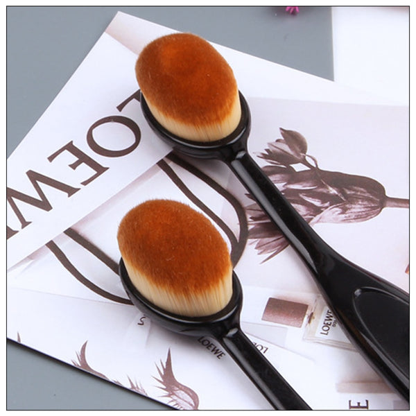 2019 Hot Makeup Brushes Oval Cosmetic Makeup Toothbrush Pro Blush Face Powder Foundation Brush Makeup Tool