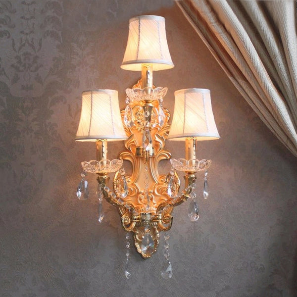 Modern Crystal Wall Lights Corridor Industrial Wall Lamp bedroom Contemporary Wall Sconce Bedside Crystal Wall Lamp Living Room