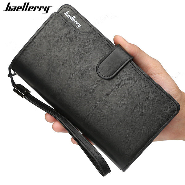 Baellerry Wallet Men Top Quality Leather Wallet Purse Fashion Casual Male Clutch Zipper Bag Brand Wallets Men Multifunction