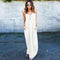 Sexy Loose V-neck Long Summer Dress Sleeveless Beach Dress New Fashion Women Clothing Vestidos White Black Casual Maxi Size -N