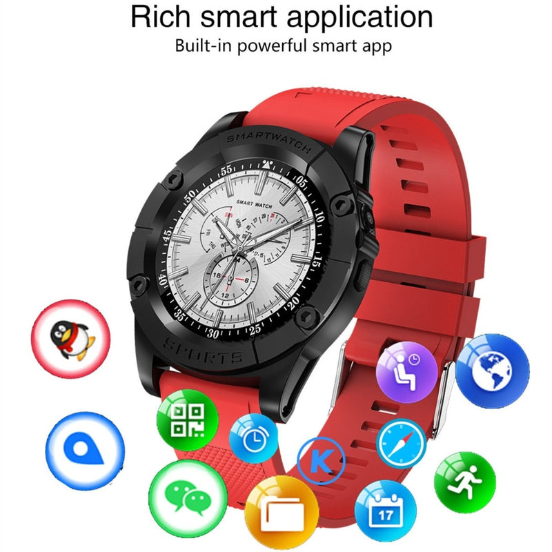 Round Smart Watch Phone Men Support TF SIM Card Pedometer HD Camera Bluetooth Smartwatch Fitness Tracker for Android IOS Phone
