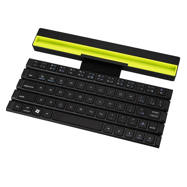 2019 Universal Portable Folding BT Wireless bluetooth Keyboard Rollable Foldable Intelligent Magnetic Switch For Table PC