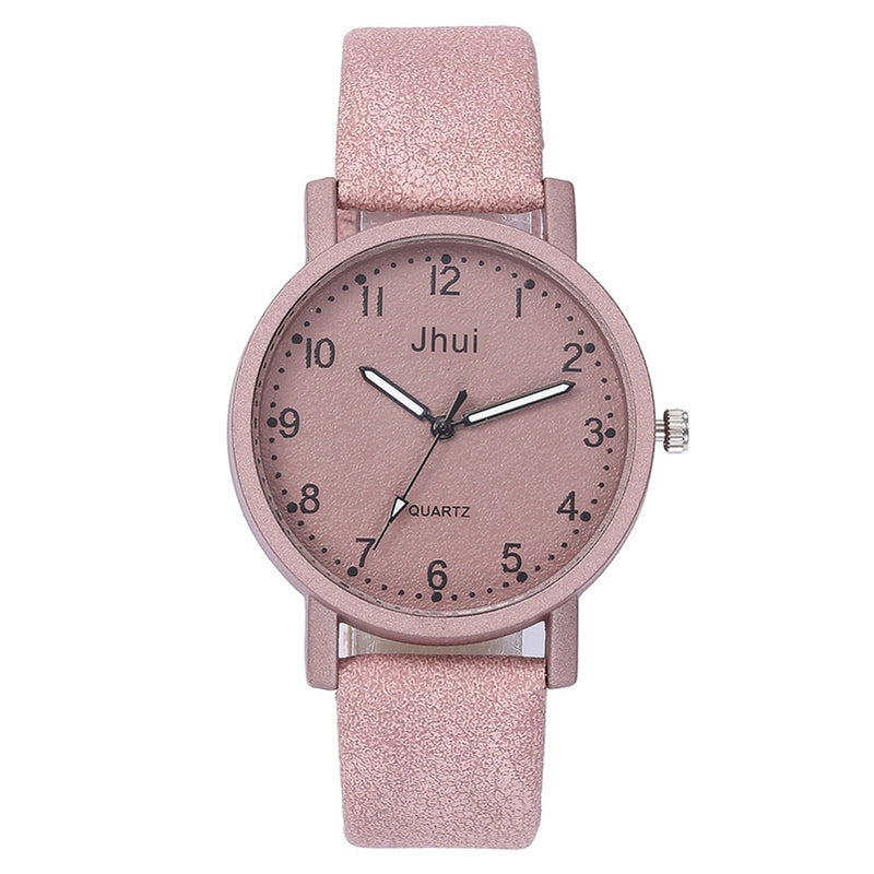 Retro Simple Women Watches Laides Casual Quartz Wrist Watch Multicolor Leather Band New Strap Watch Female Clock reloj mujer /C