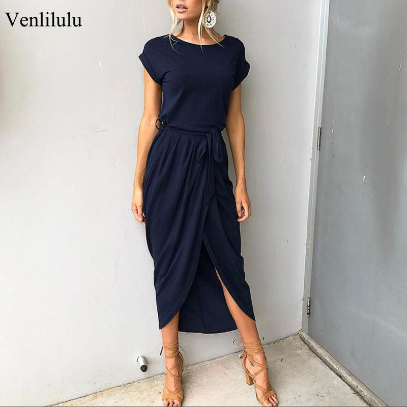 2019 Women Party Dress Plus Size Women Summer Dress Casual Slim Elegant Maxi Long Dress Bodycon Female Beach Dress For Women 3xl