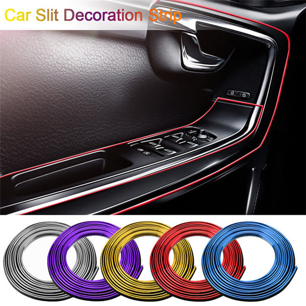 5 M Car Styling Universal DIY Flexible Interior Decoration Molding Trim Strips Auto Door Edge Sticker Christmas Accessories