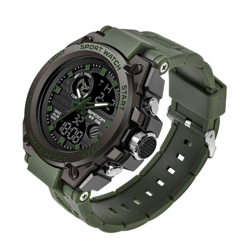 2019 Sanda Men's Watches Black Sports Watch LED Digital 3ATM Waterproof Military Watches S Shock Male Clock relogios masculino