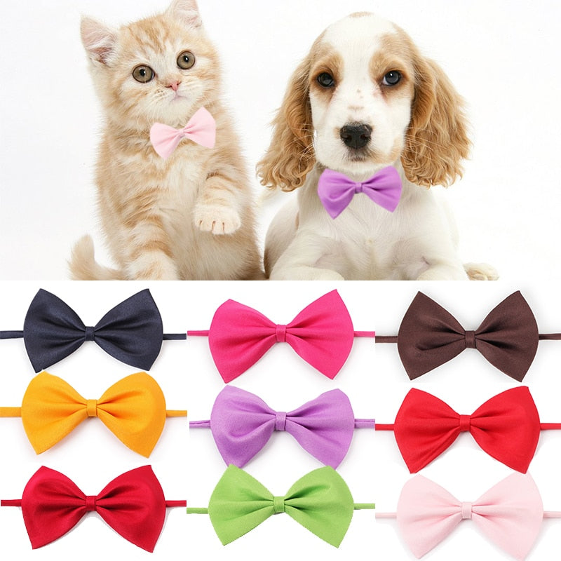 Fashion Pet Cat Dog Collar Bow Tie Adjustable Neck Strap Cat Dog Grooming Accessories Puppy Product Supplies