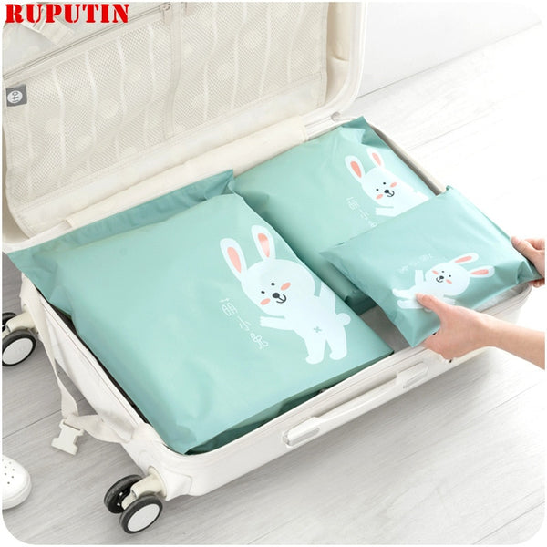 RUPUTIN 3Pcs/set Travel Organizer Suitcase Clothes Finishing Kit Beauty Case Make Up Organizer Storage Bag Travel Accessories