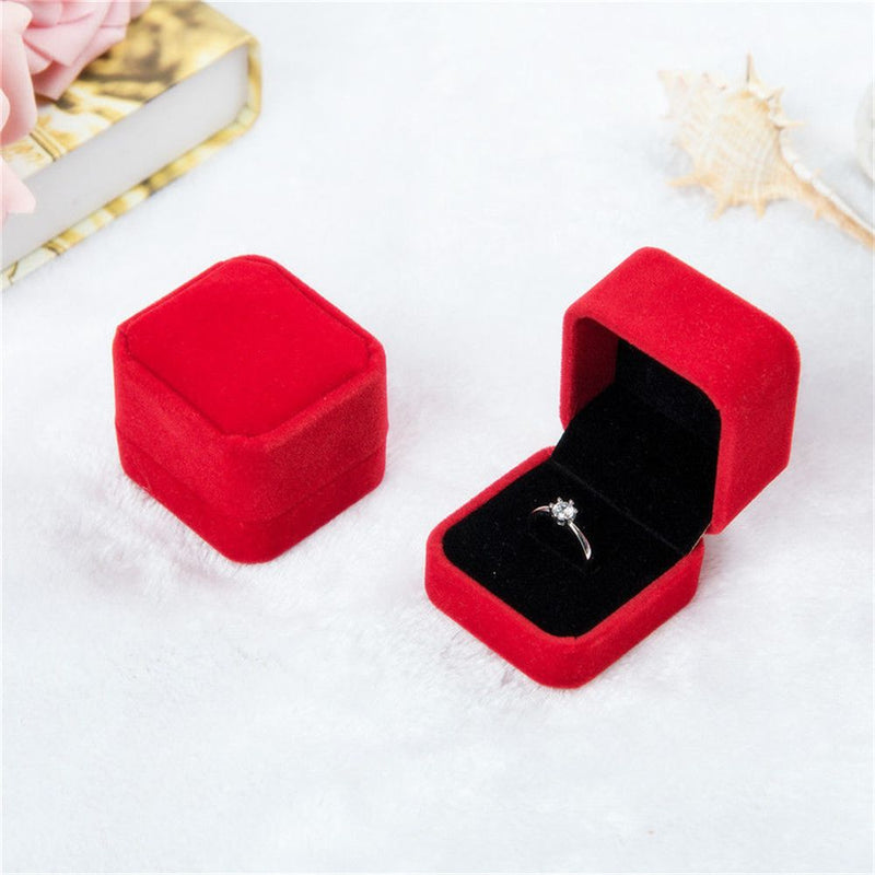 1pcs Squre Wedding Velvet Earrings Ring Box Jewelry Display Case Holder Gift boxes Amazing organizer