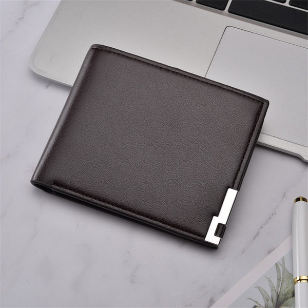 Top 2019 New ultra-thin Casual Leather Wallet Men Short Sequined Purse Man Wallets Male Small Money Dollar Slim Cool Card Holder