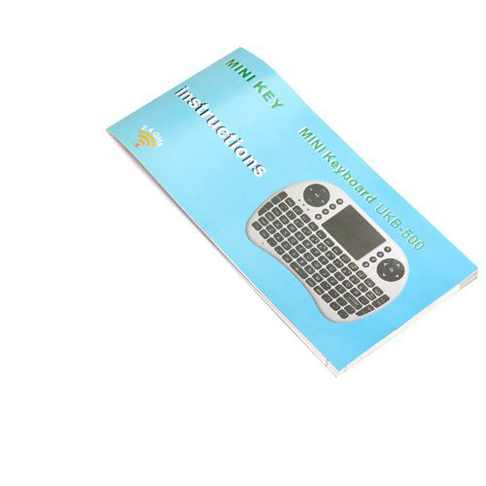 Binmer 2.4GHz Wireless Keyboard Air Mouse Touchpad DPI Adjustable Functions Russian Keyboard Version For Android TV Black