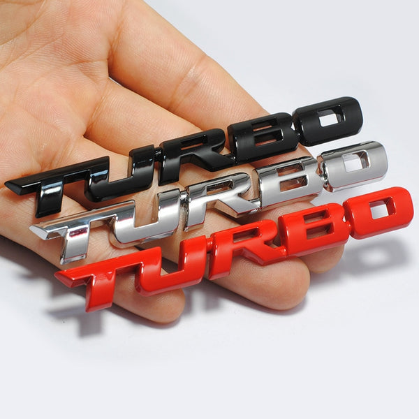 Brand 3D Car Styling Sticker Metal TURBO Emblem Rear Tailgate Badge for Ford Focus 2 3 ST RS Fiesta Mondeo Tuga Ecosport Fusion
