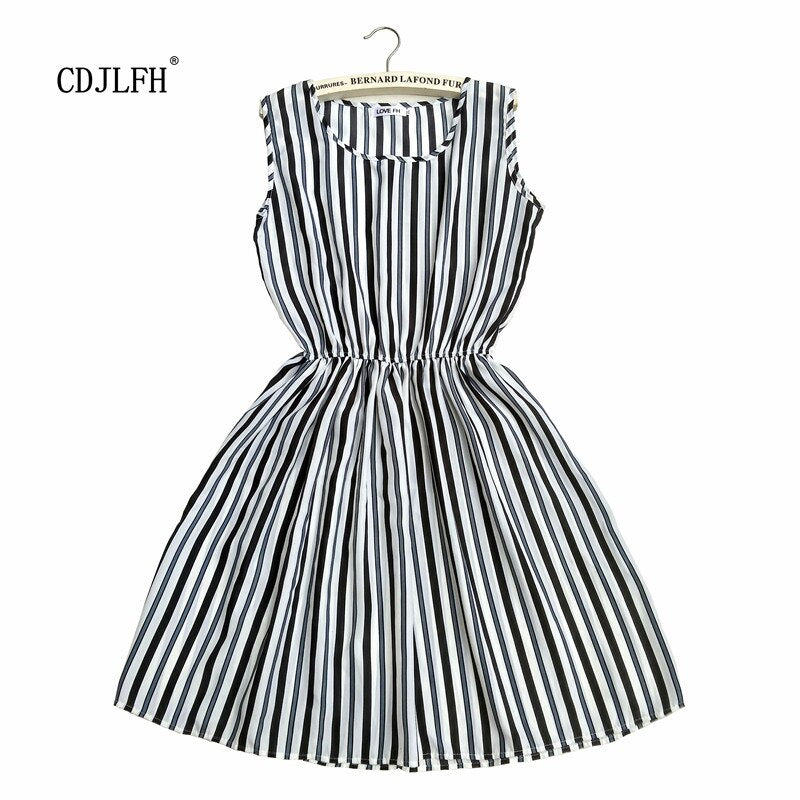 Fashion Women Summer Autum Striped Femme Dress 2018 Dresses Casual Plus Size Woman Clothes Beach White Sexy Mini Clothing