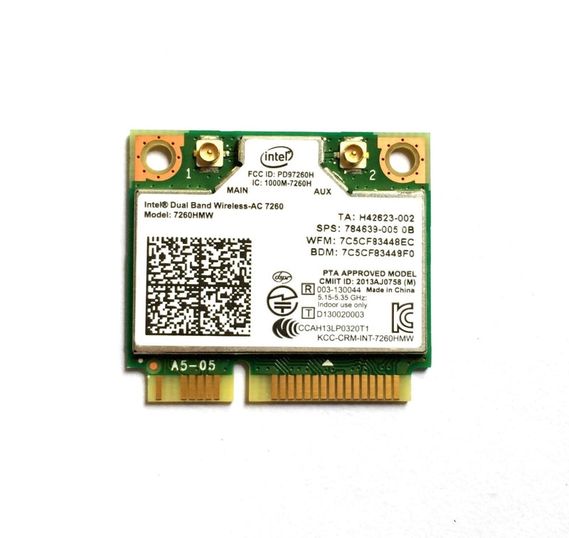 Intel Dual Band Wireless 7260 Intel7260 7260AC 7260HMW 2.4&5G 867M BT4.0 MiniPCIe WiFi Wireless Card