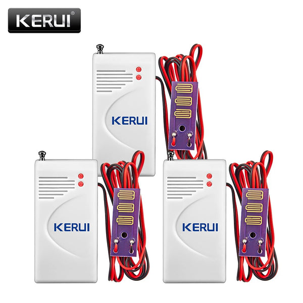 KERUI 3pcs/lot 433MHz Wireless Water leak Intrusion Detector Work With GSM PSTN Home Security Voice Burglar Smart Alarm system