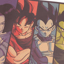 TIE LER Vintage Cartoon Anime Dragon Ball Poster Bar Kids Room Home Decor Comics Dragon Ball Kraft Paper Painting 70x39cm