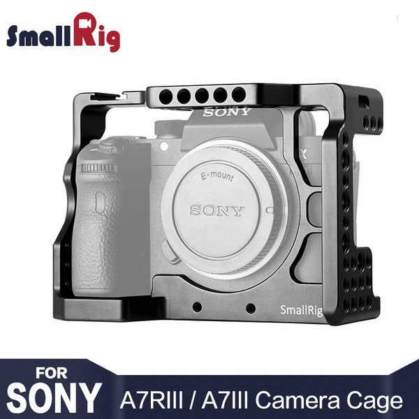 SmallRig A73 Cage A7R3 / A7RIII / A7III Camera Cage for Sony A7R III / A7M3/ A7 III W/ Arri Locating / 4/1 8/3 Threads hole 2087
