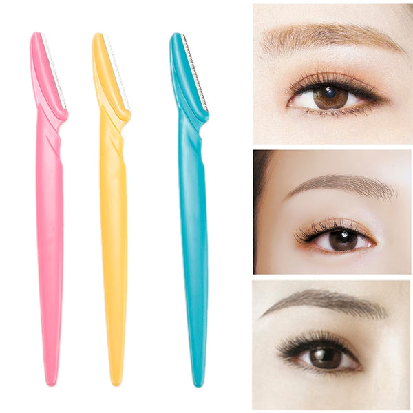3Pcs/set Portable Eyebrow Trimmer Hair Remover Set Women Face Razor Eyebrow Trimmers Blades Shaver For Makeup Cosmetic Kit