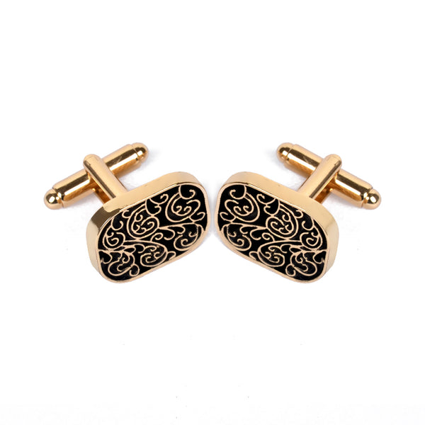 Vintage Cufflink For Men Jewelry Shirt Cufflinks Brand Cuff Buttons Gold Color Cuff Link High Quality Pattern Wedding Jewelry