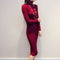 Wipalo Women Autumn Winter Sweater Knitted Dresses Slim Elastic Turtleneck Long Sleeve Sexy Lady Bodycon Robe Dresses Vestidos