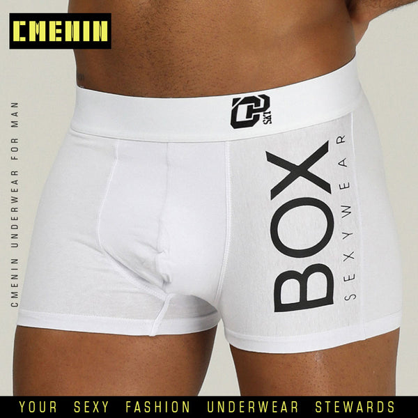 BOX Sexy Underwear Men Boxer Pure Cotton Lingerie Underpants Boxershorts Men Long Boxer Soft Boxershorts Men Lingerie Gay OR212