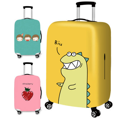 Carton  Elastic Thickest Luggage Suitcase Protective Cover for19-32 Inch Protect Dust Bag Case Cartoon Travel Cover