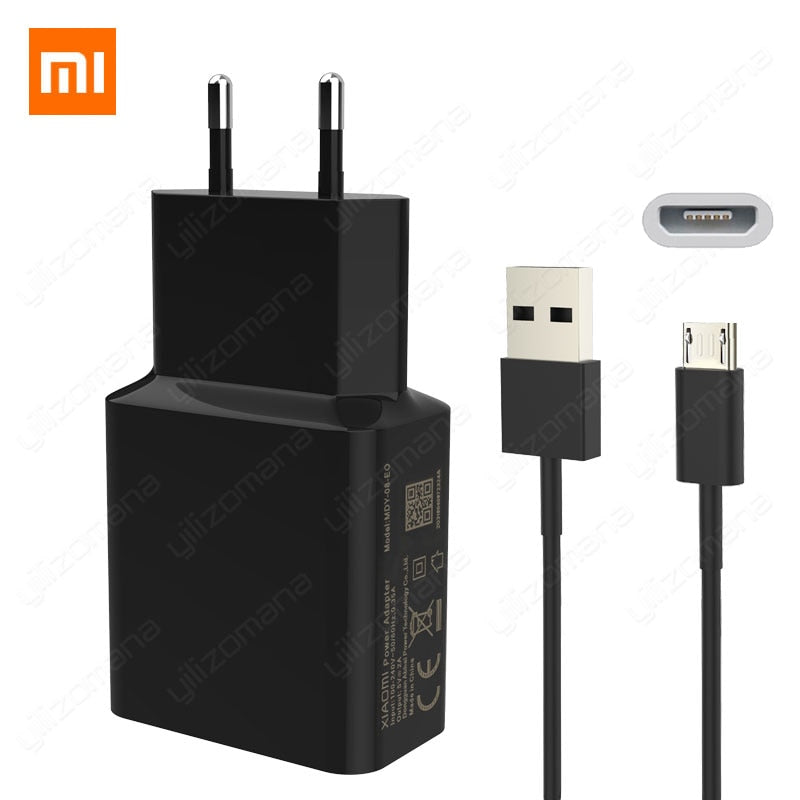 Xiaomi Original Charger 5V/2A EU Type-C Micro USB Data Cable Travel Charging Adapter For MI5 max 3S Redmi Note 3 4 pro 4X 5 5S