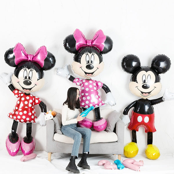 Mickey Minnie Mouse Foil Balloons 112cm Cartoon Balons  Birthday Party Decoration Kids Baby shower Party Toys balons Ball Globos