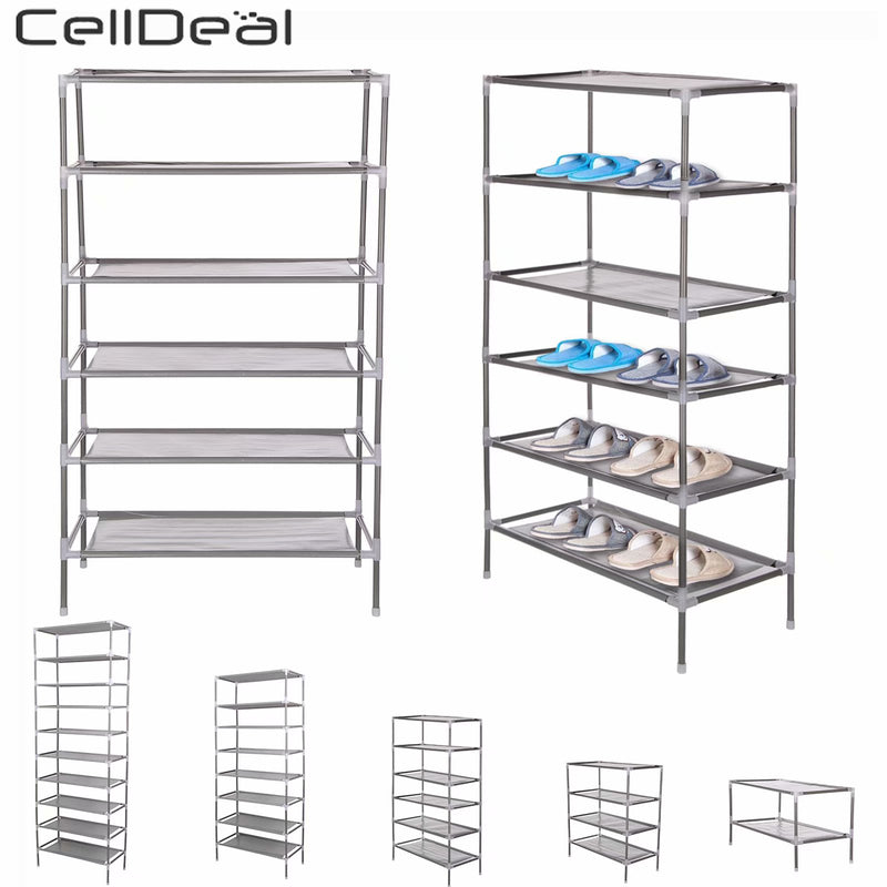 CellDeal 2/4/6/8/10 Tiers Non-Woven Fabric Dustproof Shoe Rack Storage Organizer Cover Cabinet Shelf Cabinet 6/12/18/24/30 Pairs