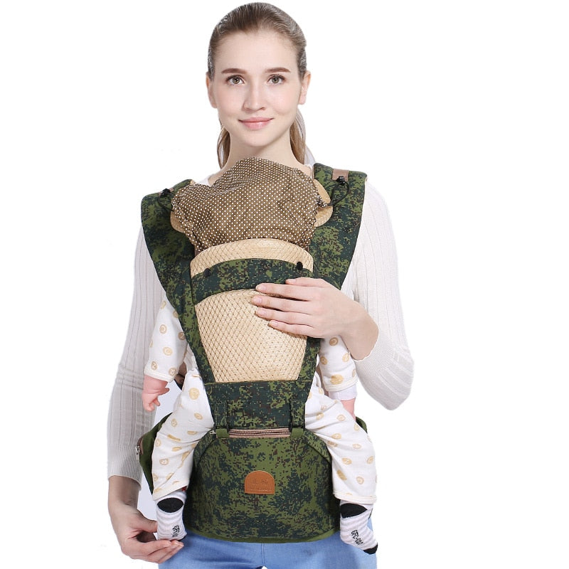 QINHU Cotton Baby Carrier Soft Seat Health Material Ergonomic Baby Sling Wrap Face Up Baby Kangaroo Portabebe Big Baby Belt