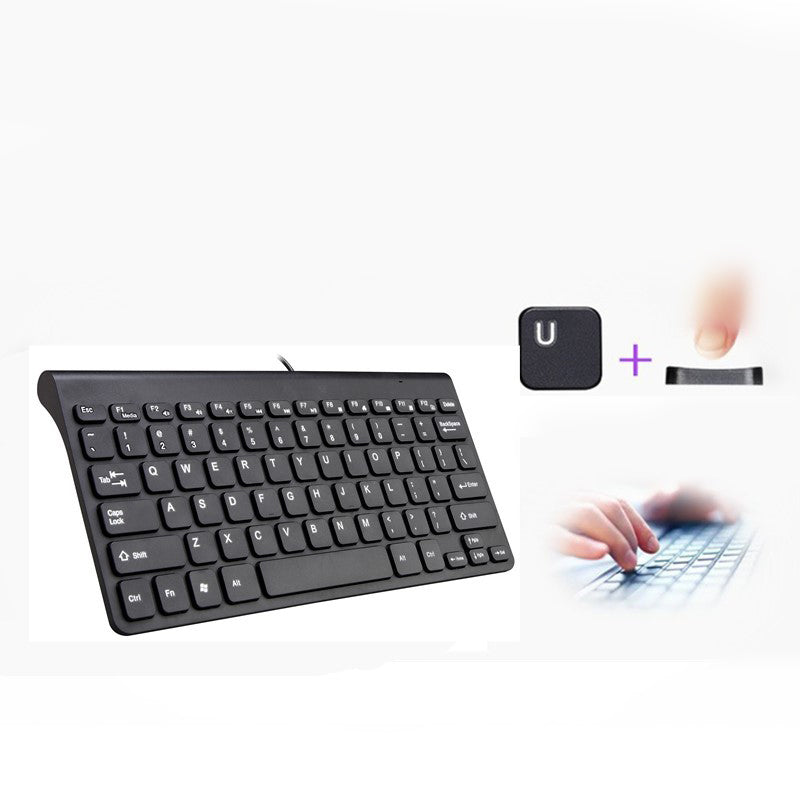 New Keyboard Ultra thin Quiet Small Size 78 Keys Mini Multimedia USB Keyboard For Laptop PC Macbook