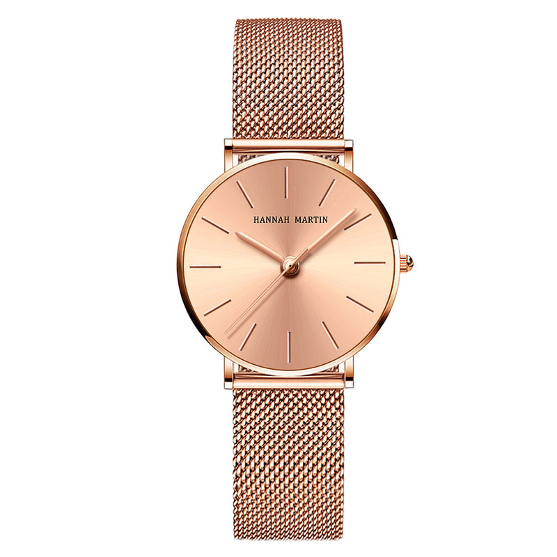 Drop shipping A++++ Quality Stainless Steel Band Japan Quartz Movement Waterproof Women Full Rose Gold Ladies Luxury Wrist Watch