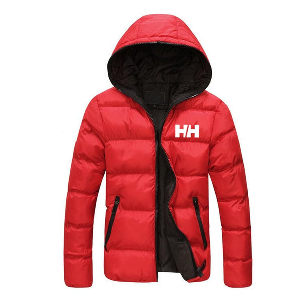 Male jacket 2019 winter informal mountain cover men's slim HH with hoodie, trendy coat plus size 3XL