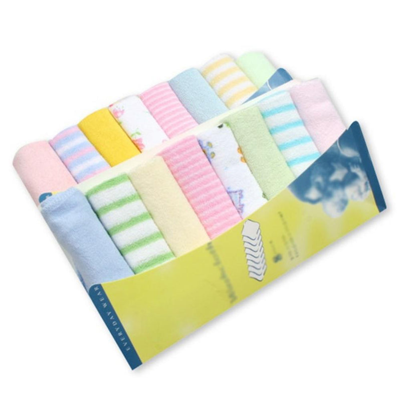 8pcs/pack Cotton Baby Nursing Towels Saliva Bibs Handkerchief Towel Washcloth Newborn Boys Girls Feeding Cotton Bibs For Kids