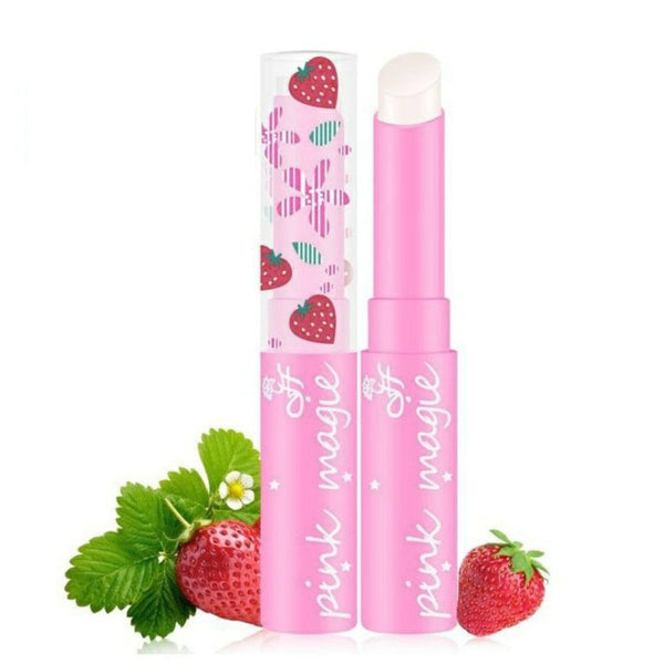 Strawberry Lip Balm Temperature Changing Color Moisturizer Balm Lipstick Long-Lasting Nourishment Protects The Lips TSLM1