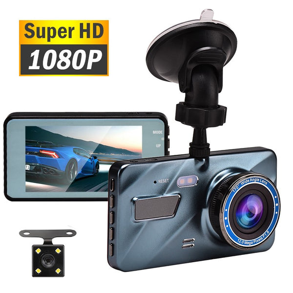 "J16 Car DVR Dash Camera Rear View Dual Camera Video 1080P Full HD 3.6"" Cycle Recording Night Vision G-sensor Wide Angle Dashcam"